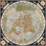 ancient map Urbano Monte planisphere