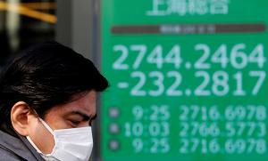 man in mask passes stock market list