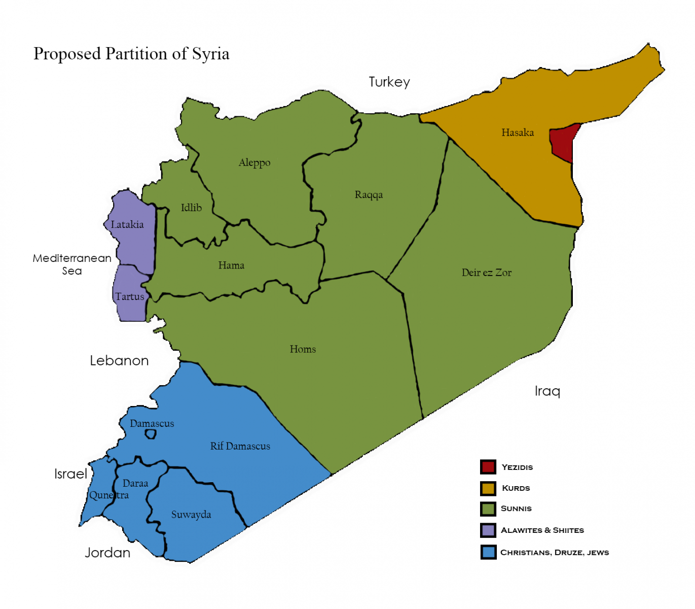 To resolve the syrian crisis partition is necessary yaleglobal online proposal prepared by jamsheed and carol choksy click to view larger map gumiabroncs Gallery