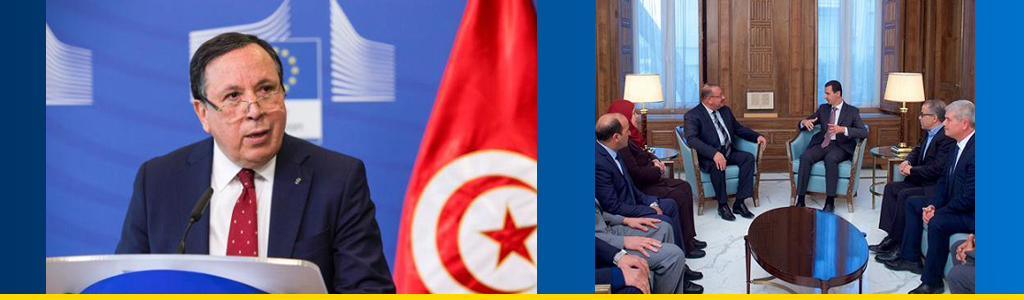 Tunisian foreign minister Khemaies Jhinaoui was left in the dark when a delegation of parliamentarians visited Syrian president Bashar al-Assad