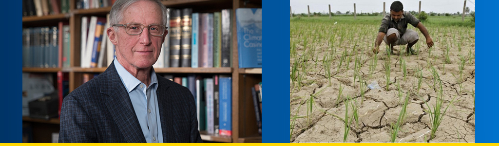 Professor Nordhaus and farmer examining a field during drought