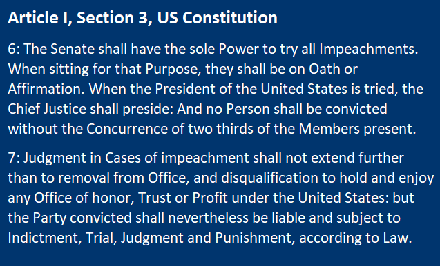 Article I Section 3, US Constitution