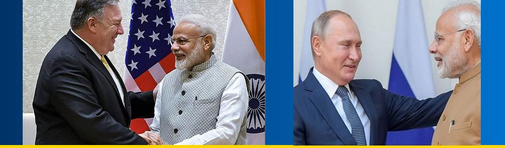 Narendra Modi greets Mike Pompeo of US, Vladimir Putin of Russia