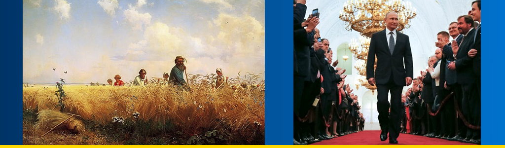 Identity crisis: Russians are divided over support for modernization versus traditionalism; peasant imagery such as the 1887 painting