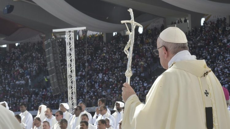 Pope Francis says Mass in UAE