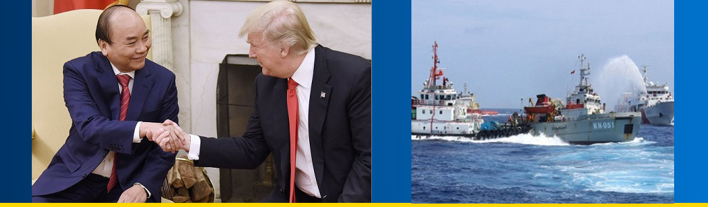 Vietnamese premier and US president meet in White House; Chinese coast guard sprays Vietnamese boat with water