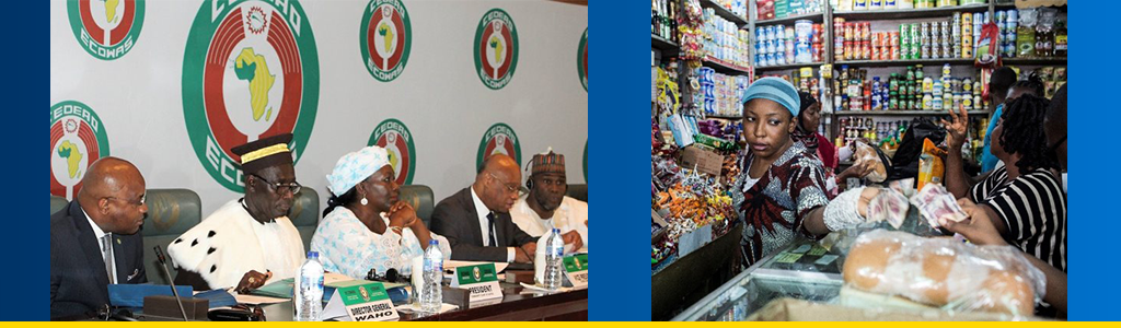 Ecowas meeting; bills exchanged during a transaction in Sierra Leone store