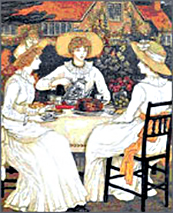 Afternoon tea in 1886
